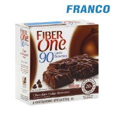 FIBER ONE CHOCOLATE FUDGE BROWNIES X6BARRAS