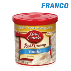 BETTY CROCKER RICH & CREAM VAINILLA X453GR