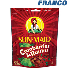 SUN MAID CRANBERRIES & RAISINS X 170G