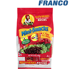 SUN MAID MINI SNACKS X 170G