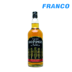 100 PIPERS DE LUXE SCOTCH WHISKY X750ML