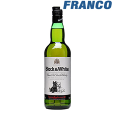 BLACK  WHITE WHISKY X 750 ML
