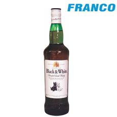 BLACK & WHITE WHISKY X 750ML