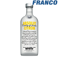 ABSOLUT CITRON VODKA X750ML