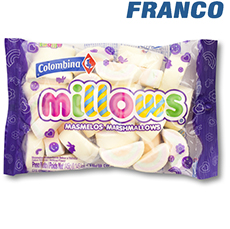 COLOMBINA MILLOWS MASMELOS ARCO IRIS X145GR