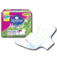 NOSOTRAS NATURAL INVISIBLE TELA X8 UND
