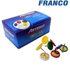 ARTESCO CHINCHES PLASTIFICADOS COLORES X 100UND