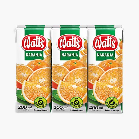 WATTS BEBIDA NARANJA 200 ML SIX PACK