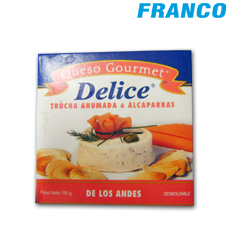 DELICE QUESO GOURMET TRUCHA AHUM. ALCAPARR X150GR