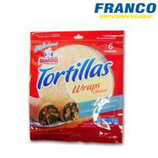 BIMBO TORTILLAS WRAPS X 310 GR**