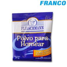 Fleischmann polvo para hornear x20 gr franco supermercado for Hornear a blanco