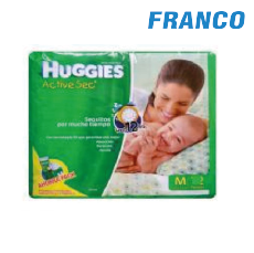 HUGGIES ACTIVE SEC M-64 PAÑAL
