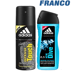 ADIDAS INTENSE DEO AERX150 + SHOWERX250ML
