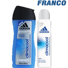 ADIDAS CLIMACOOL SHOWER GELX250 + DEO AERX150ML CLIMACOOL