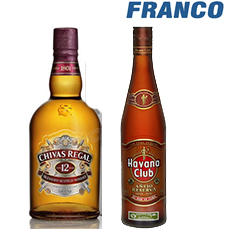 CHIVAS REGAL 12AÑOS + HABANA CLUB RESERVAX750ML