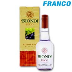BIONDI PISCO ACHOLADO X750ML