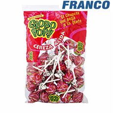 GLOBO POP CEREZA ACIDA CHUPETIN X24UND