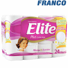 ELITE PLUS DOBLE HOJA PAPEL HIGIENICO X 24-2018