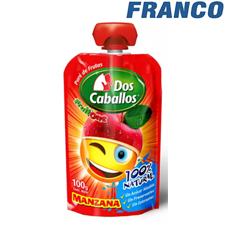 DOS CABALLOS FRUIT ONE  DOY PACK 100 GR X UNID